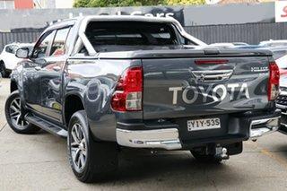 2018 Toyota Hilux GUN126R SR5 Double Cab Grey 6 Speed Sports Automatic Utility.