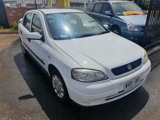 2003 Holden Astra TS MY03 CD White 4 Speed Automatic Hatchback.
