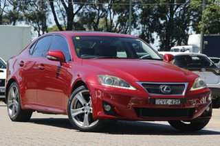 2011 Lexus IS GSE21R IS350 Sports Luxury Burgundy 6 Speed Sports Automatic Sedan.