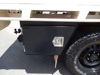 2016 Toyota Hilux GUN126R SR (4x4) Glacier White 6 Speed Manual Dual Cab Chassis.