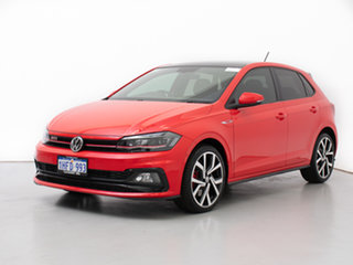 2018 Volkswagen Polo AW MY19 GTi Red 6 Speed Auto Direct Shift Hatchback.