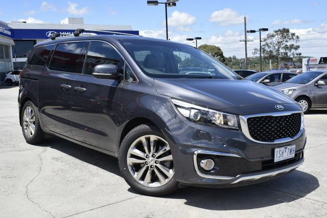 Used Kia Carnival YP MY16 Platinum Ferntree Gully, 2016 Kia Carnival YP MY16 Platinum Grey 6 Speed Sports Automatic Wagon