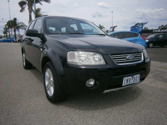 Used Ford Territory SY Ghia Cheltenham, 2005 Ford Territory SY Ghia Black 4 Speed Sports Automatic Wagon