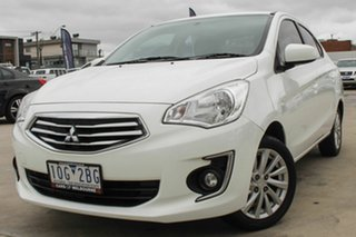 2015 Mitsubishi Mirage LA MY15 ES White 5 Speed Manual Sedan.