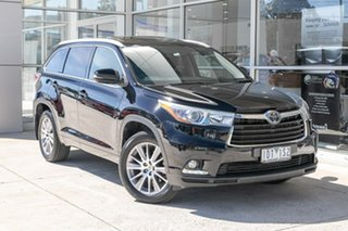 2014 Toyota Kluger GSU55R Grande AWD Black 6 Speed Sports Automatic Wagon.