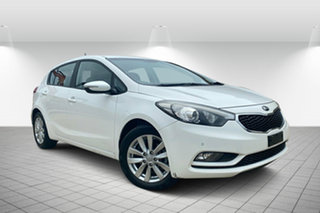 2015 Kia Cerato YD MY15 S Premium White 6 Speed Sports Automatic Hatchback.