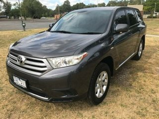 2013 Toyota Kluger GSU40R MY13 Upgrade KX-R (FWD) 7 Seat Graphite 5 Speed Automatic Wagon.