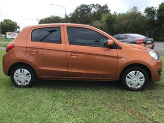 2019 Mitsubishi Mirage LA MY19 ES Orange 1 Speed Constant Variable Hatchback.