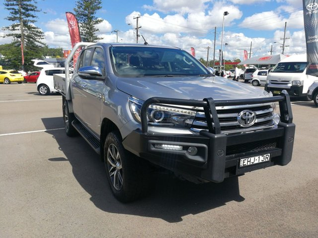 Used Toyota Hilux GUN126R SR5 Double Cab Cardiff, 2017 Toyota Hilux GUN126R SR5 Double Cab Silver Sky Meta 6 Speed Sports Automatic Utility