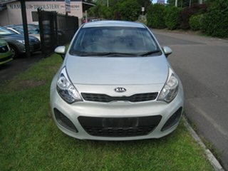 2012 Kia Rio UB MY13 S Silver 4 Speed Automatic Hatchback.