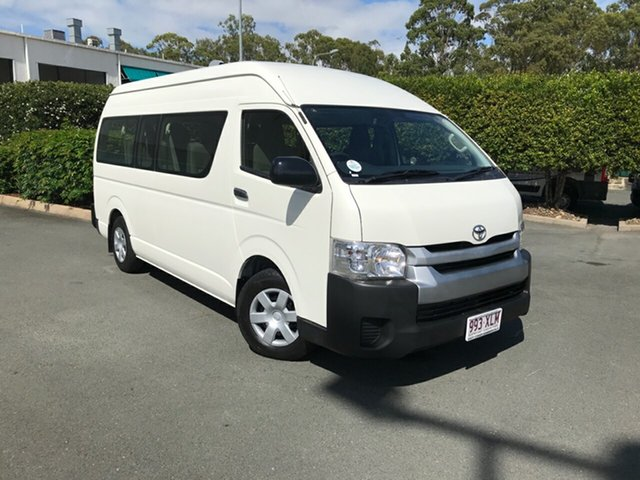 Used Toyota HiAce KDH223R Commuter High Roof Super LWB Acacia Ridge, 2017 Toyota HiAce KDH223R Commuter High Roof Super LWB French Vanilla 4 speed Automatic Bus