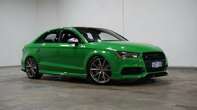 Used Audi S3 8V MY16 S Tronic Quattro Welshpool, 2016 Audi S3 8V MY16 S Tronic Quattro Green 6 Speed Sports Automatic Dual Clutch Sedan