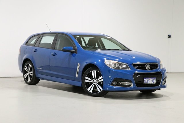 Used Holden Commodore VF SV6 Storm Bentley, 2014 Holden Commodore VF SV6 Storm Blue 6 Speed Automatic Sportswagon