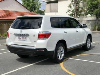 2010 Toyota Kluger GSU45R KX-R AWD White 5 Speed Sports Automatic Wagon.