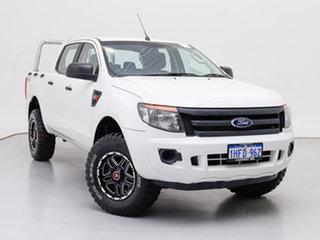 2015 Ford Ranger PX XL 2.2 (4x4) White 6 Speed Manual Crew Cab Utility.