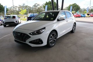 2020 Hyundai i30 PD.V4 MY21 Elite Polar White 6 Speed Sports Automatic Hatchback