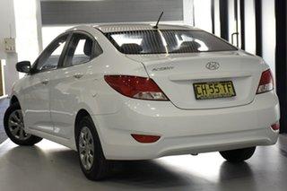 2016 Hyundai Accent RB3 MY16 Active White 6 Speed CVT Auto Sequential Sedan.