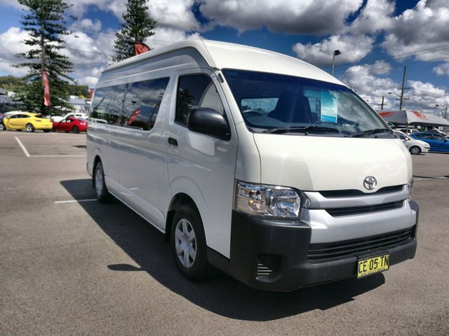 Used Toyota HiAce KDH223R Commuter High Roof Super LWB Cardiff, 2015 Toyota HiAce KDH223R Commuter High Roof Super LWB French Vanilla 4 Speed Automatic Bus
