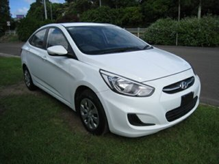 2015 Hyundai Accent RB Active White 5 Speed Manual Sedan