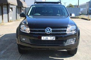2016 Volkswagen Amarok 2H MY16 TDI420 (4x2) Black 8 Speed Automatic Dual Cab Utility.