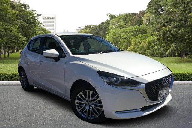 Demo Mazda 2 DJ2HAA G15 SKYACTIV-Drive Evolve Paradise, 2020 Mazda 2 DJ2HAA G15 SKYACTIV-Drive Evolve White Pearl 6 Speed Sports Automatic Hatchback