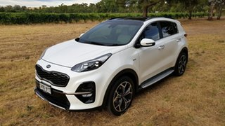 2019 Kia Sportage QL MY19 GT-Line AWD White 8 Speed Sports Automatic Wagon