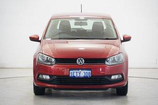 2015 Volkswagen Polo 6R MY15 66TSI Trendline Tornado Red 5 Speed Manual Hatchback.