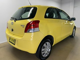2008 Toyota Yaris NCP90R YR Yellow 5 Speed Manual Hatchback.