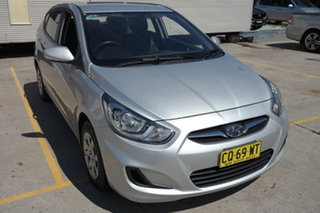 2013 Hyundai Accent RB Active Silver 4 Speed Sports Automatic Hatchback.