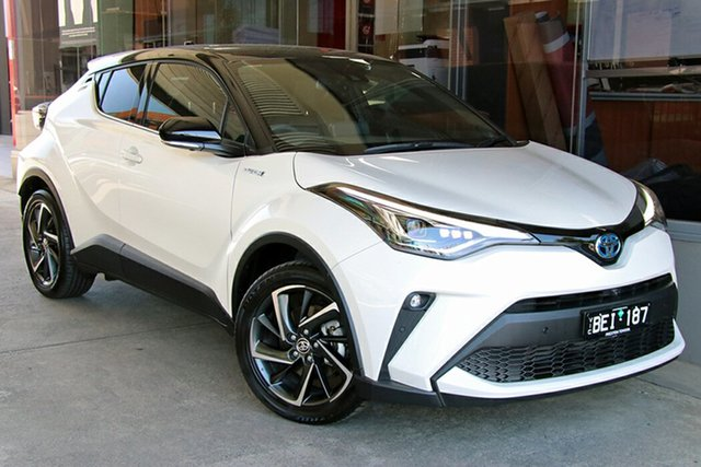 Pre-Owned Toyota C-HR NGX50R Koba S-CVT AWD Preston, 2020 Toyota C-HR NGX50R Koba S-CVT AWD Crystal Pearl & Black Roof 7 Speed Constant Variable Wagon
