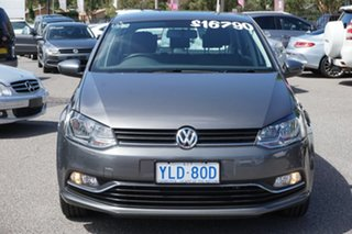 2016 Volkswagen Polo 6R MY16 81TSI Comfortline Pepper Grey 6 Speed Manual Hatchback.