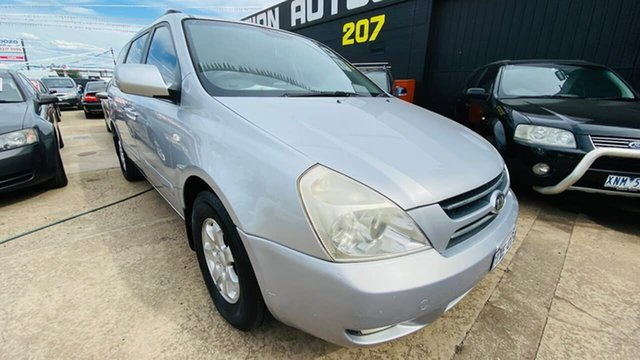 Used Kia Carnival VQ MY07 EX Maidstone, 2007 Kia Carnival VQ MY07 EX Silver 4 Speed Sports Automatic Wagon