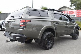 2016 Mitsubishi Triton MQ MY17 GLS Double Cab Green 5 Speed Sports Automatic Utility.