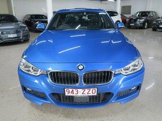2017 BMW 3 Series F30 LCI 330i M Sport Estoril Blue 8 Speed Sports Automatic Sedan.