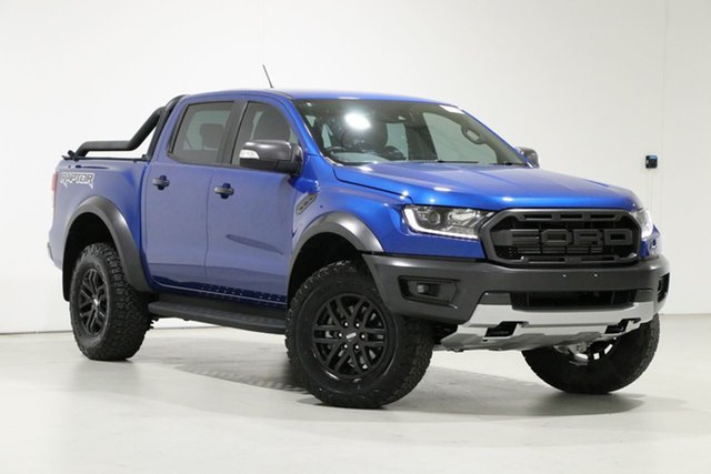 Used Ford Ranger PX MkIII MY19 Raptor 2.0 (4x4) Bentley, 2018 Ford Ranger PX MkIII MY19 Raptor 2.0 (4x4) Blue 10 Speed Automatic Double Cab Pick Up