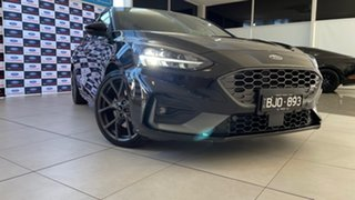 2020 Ford Focus SA 2020.25MY ST Agate Black 7 Speed Automatic Hatchback.