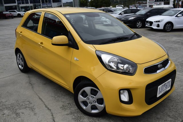 Used Kia Picanto TA MY17 SI Ferntree Gully, 2016 Kia Picanto TA MY17 SI Yellow 4 Speed Automatic Hatchback