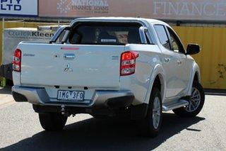 2017 Mitsubishi Triton MQ MY17 GLS Double Cab White 6 Speed Manual Utility
