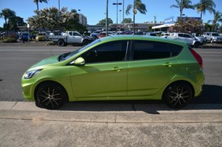 2012 Hyundai Accent RB Active Green 4 Speed Automatic Hatchback