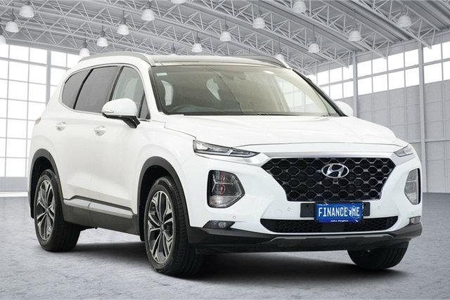 Used Hyundai Santa Fe TM.2 MY20 Highlander Victoria Park, 2019 Hyundai Santa Fe TM.2 MY20 Highlander White Cream 8 Speed Sports Automatic Wagon
