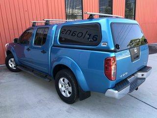 2007 Nissan Navara D40 ST-X Blue 6 Speed Manual Utility.