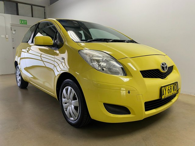Used Toyota Yaris NCP90R YR Phillip, 2008 Toyota Yaris NCP90R YR Yellow 5 Speed Manual Hatchback