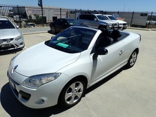 2010 Renault Megane III E95 Dynamique White & Black 6 Speed Constant Variable Cabriolet