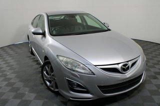 2012 Mazda 6 GH1022 MY12 Sports Sunlight Silver 6 Speed Manual Hatchback.