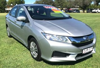 2015 Honda City GM MY16 VTi Silver 1 Speed Constant Variable Sedan.