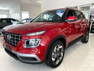 2020 Hyundai Venue QX.V3 MY21 Elite Fiery Red 6 Speed Automatic Wagon.