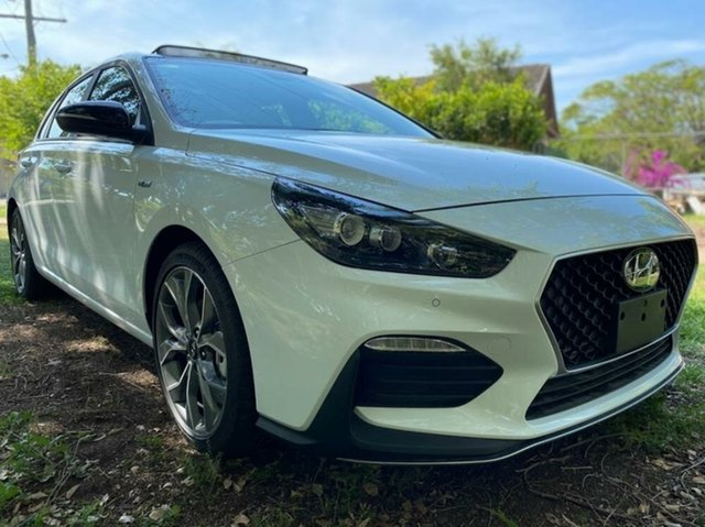 New Hyundai i30 PD.V4 MY21 N Line D-CT Augustine Heights, 2020 Hyundai i30 PD.V4 MY21 N Line D-CT Polar White 7 Speed Sports Automatic Dual Clutch Hatchback