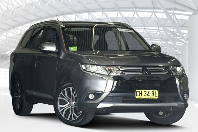Used Mitsubishi Outlander ZK MY16 XLS (4x2) Moorebank, 2016 Mitsubishi Outlander ZK MY16 XLS (4x2) Grey Continuous Variable Wagon