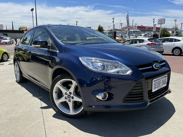 Used Ford Focus LW Titanium PwrShift Victoria Park, 2012 Ford Focus LW Titanium PwrShift Blue 6 Speed Sports Automatic Dual Clutch Hatchback