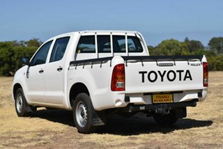 2010 Toyota Hilux TGN16R MY10 Workmate 4x2 White 5 Speed Manual Utility